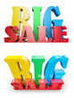 Big Sale, three-dimensional sign, isolated on white