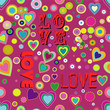seamless love and heart background