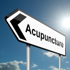 Acupuncture concept.