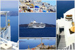 Set of summer photos in Santorini island, Greece