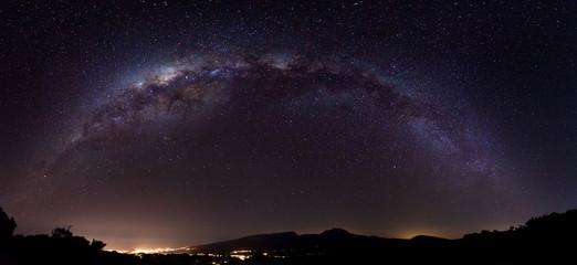 Voie Lactée au-dessus de l'Ile de La Réunion