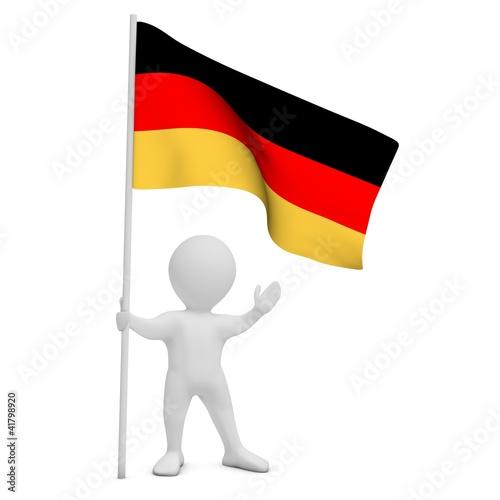 Bürger mit deutscher Flagge