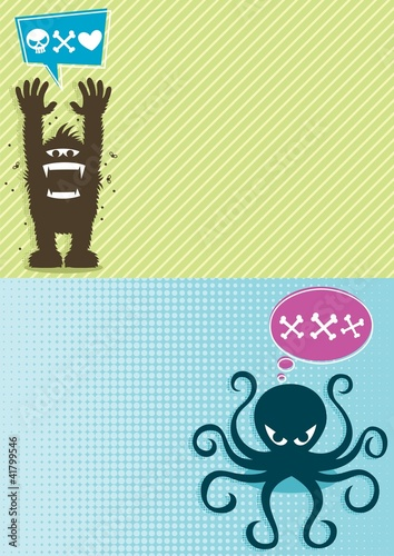 Monster Backgrounds 1