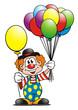 Leinwanddruck Bild - Clown Balloons