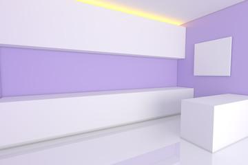 purple kitchen room