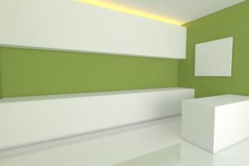 green kitchen room