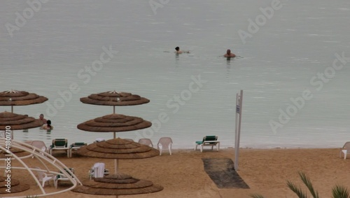 Bathing in the Dead Sea, Israel
