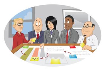 office employee brainstorming