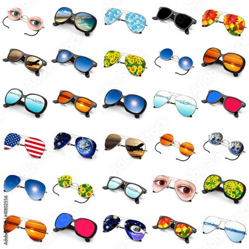 occhiali collage