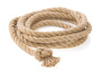 ship rope and knot isolated on white