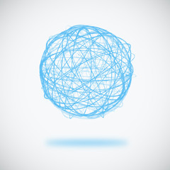 sphere circle line