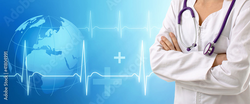 Doctor with medical background healthcare