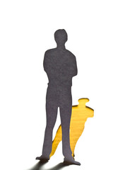 Social Network concept : close up of people cut out of paper on