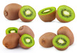 Set of ripe kiwi fruits