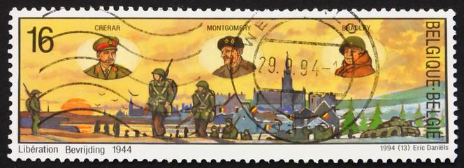 Postage stamp Belgium 1994 Liberation of Belgium