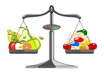 Fresh fruit versus pile tablets