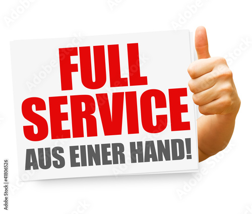 Full Service aus einer Hand! Button, Icon