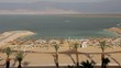 Dead sea and hotel beach