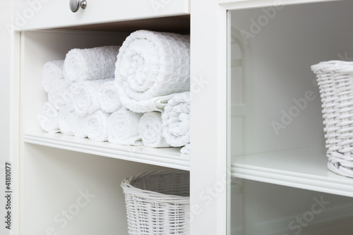 towel on a shelf