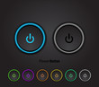 Black led light power button - 41810917