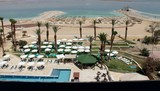 Hotel beach by Dead Sea