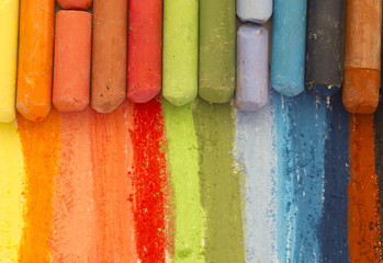 dried pastels