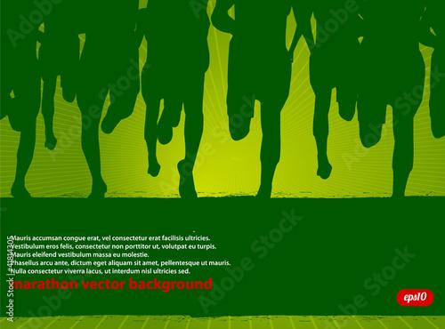 Marathon Runners Vector Poster