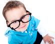 Funny boy wearing glasses