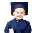 Little boy graduating