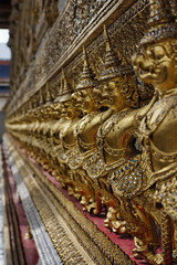 Thailand, Bangkok, Imperial City, golden statues