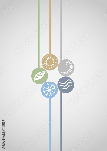 Nature energy icons