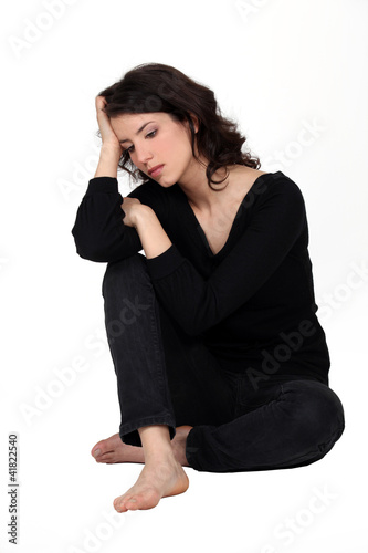 A depressed woman