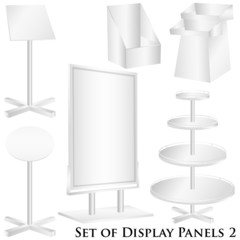 Blank display panels vector isolated on white