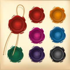 Set of Color Wax seal.