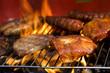 Closeup of fried burgers