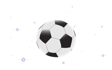 Illustration of soccer ball with star on the white background