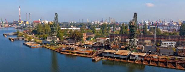 Shipyard panoramic view