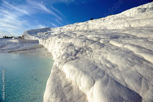 travertines in Pamukkale , heirapolis , turkey