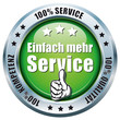 100% Service, Qualität, Kompetenz - Button