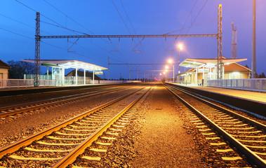 Passanger train station - railroad