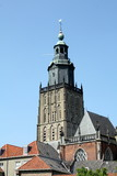 Tower from the St.Walburgius church in Zutphen (Netherlands)
