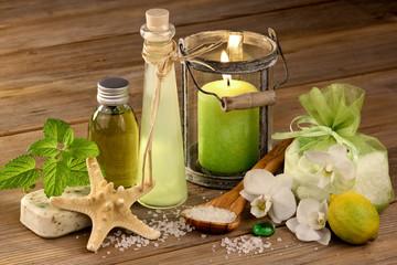 Wellness mit Pflegeprodukten