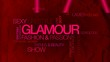 Glamour word tag cloud animation red background video