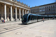 Tramway passing by the Grand Theatre of Bordeaux