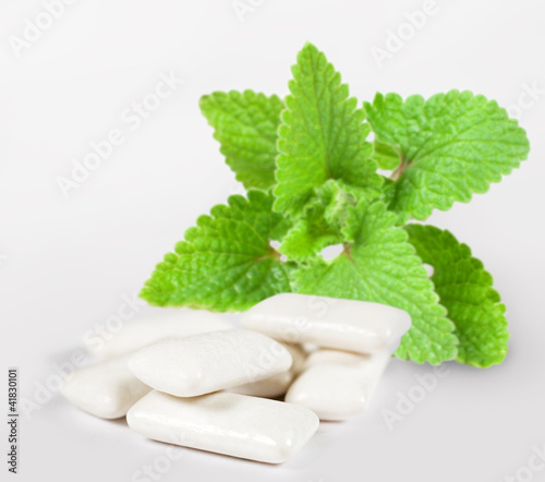 chewing gum with mint