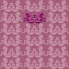 Hintergrund, Ornament, Pferd, Seide, Tapete, Buch, Karte