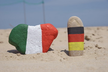 Italy and Germany, friendship on painted stones