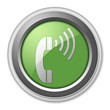 "Green 3D Style Button ""Telephone"""
