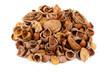 Biocombustibile - gusci di noccioline, noci e mandorle.