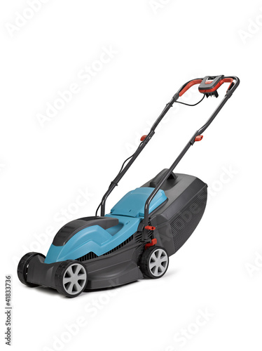 Lawn mower. Isolated on white background